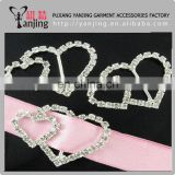 Factory directly ! Wholesale Ex-factory price double heart rhinestone buckle