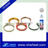 Colorful plastic wheel hub centric rings