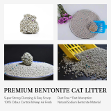 Haosen bentonite ball type cat litter dust less good 10KG