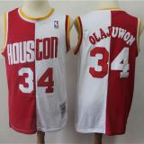 Houston Rockets #34 Olajuwon Throwback white&red Jersey