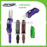 Promotion gift multi functional pen tool light with keychain