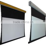 Nice Home theatre Aluminum alloy Tab-tension electric projection screen,high gain, very flat,best quality