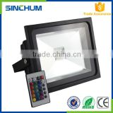 Zhongshan manufacturer high lumens high power 30w rgb led flood light with remote control