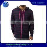 Wholesale 100% Cotton French Terry Zip 2015 Plain Hoodies