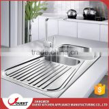 Chinese Europe Market Stainless Steel Topmount One Piece Bathroom Sink Steel Kitchen Sink