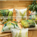 Thick high-grade Chinese style printing pillow, plant flowers silk sofa cushion covers