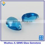 Hot Sale Synthetic Double Facet Cut Pear Blue Glass Gem For Beautiful Necklace