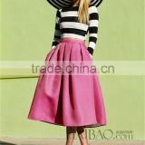 2014 Early fashion designer twinset vintage zebra upper pink skirts casual dress star style wholesale
