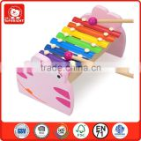 2014 hot educational toys pink frog style snap rivet 8 keys silk-screen printing indian musical instruments