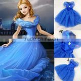 2015 New! Baby girl frozen princess dress cosplay costume wholesale kids girl halloween costume (Ulik-A0141)