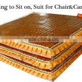 Cooling breathable bamboo chair cushion with lace in summer