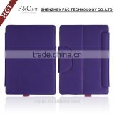 Premium leather Folio Protective Cover Case with Stand for microsoft surface pro 4 tablet purple