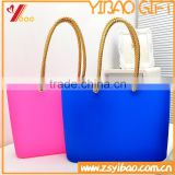 Custom women Candy color silicone hand bag 2015 designer