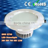 SMD 5730, 5 inch Antifog Led Downlight 12W with CE RoHS, High Lumen/ Low Price/ New Design