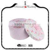 Free Sample Small Jewelry Round Gift Box With Ribbon Bow
