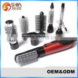 Plastic Bristle Multi-functional Magic Hot Air Styler Roller Brush Pro Salon Hair Dryer Comb And Hair Straightener Factory                                                                         Quality Choice