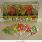 funny Cartoon soft jelly lollipop