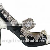 high heel shoe crystal clip decorative bow crystal buckles wholesale