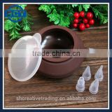 Decorating Tip Sets Bakery Decorative Silicone Cake Muffin Macaroon Macaron Piping Baking Tool Pot 4 Nozzles Set