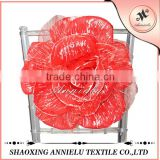 Hot sale popular wholesale artificial flower and fancy chair cover sash for wedding