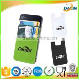 Custom cheap black silicone credit card holder for cell phone