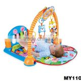 Multifunction Comfortable Kids Funny Piano Music Baby Play Gym with cute hanging toys