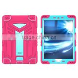 Shockproof transformer hybrid rubber protector case for iPad Air 2 iPad Pro 9.7inch with stand