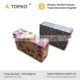 TOPKO high quality EVA yoga brick soft balance colorful foam yoga block exercise yoga block