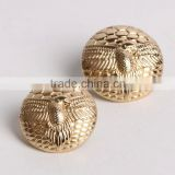 High-grade metal buttons D eagles patterns gold buttons woolen cloth coat dust coat fashion flat button
