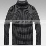 2015 Mens raglan cotton viscose turtle neck sweater