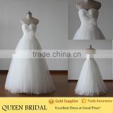 Real Sample Sweetheart Puffy Princess Ball Gown Korean Style Wedding Dress                                                                         Quality Choice