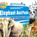 preschool teaching material animal story book, kid self learning book,audio sound book for blind kids