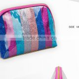 Simple Style For Home Outdoor Travel Use Glitter Cosmetic Bag