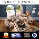 Middle East Dubai Livingroom Furniture Chesterfield Fabric Half Round Shape Sectional Sofa Set AL034