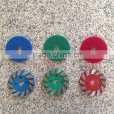 Metal Floor Polishing Pad 4 inch (100 mm) Grinding Diamond Polishing Pads For Concrete Floor 3 Pieces Complete Set Kit