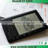 6 inch ebook reader with e ink screen,keybaord,wifi and touched panel                                                                         Quality Choice