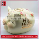 white cute pig porcelain doll ceramic toy