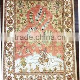 art tapestry handmade China Aubusson tapestry Floral pattern silk tapestry