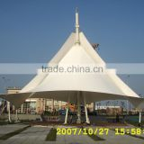 Taibei port Anti-typhoon Sail with PTFE tensile fabric architecture and membrane structure