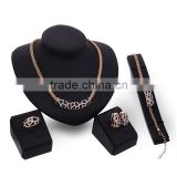 Simple Crystal Statement Jewelry Set Rectangular Charm Black Enamel Pendants Wedding Jewelry Accessory For Women