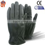 Fashion Touch Screen Man Goat Leather Black Tight Leather Gloves