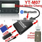 China professional car stereo manufacturer yatour digital music changer and bluetooth car kit