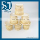Trade Assurance Biodegradable PLA eco-friendly frozen yogurt paper cups/paper coffee cups/ice cream cup