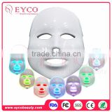 wholesale 2016 hot Beauty Face care led mask skin rejuvenation acne removal 7 colour led mask for help beauty face cream absorb