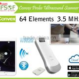 Wireless Convex Probe Ultrasound Scanner, 3.5 MHz/ R40/ 64 Elements, Usage: Community Clinical & Outdoor inspect, SIFULTRAS-5.1