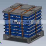 poly case, pallet container,plastic palletainer by rotomoulding