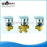 PROWAY Popuplar Thermostatic Bath Shower Deck Mounted 2 Hole Bath Zn alloy knob Faucet Mixer