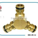 3/4 Brass Garden Swivel Hose Fittings,3-Way Splitters,Hose Connectors