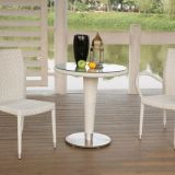 Garden furniture No Arm Chair Amr Chair Side Table Aluminum frame PE flat rattan weave Baclomy Leisure Tempered glass