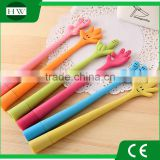 plastic flexible gesture bendable finger pending hand shape novelty ball point pen